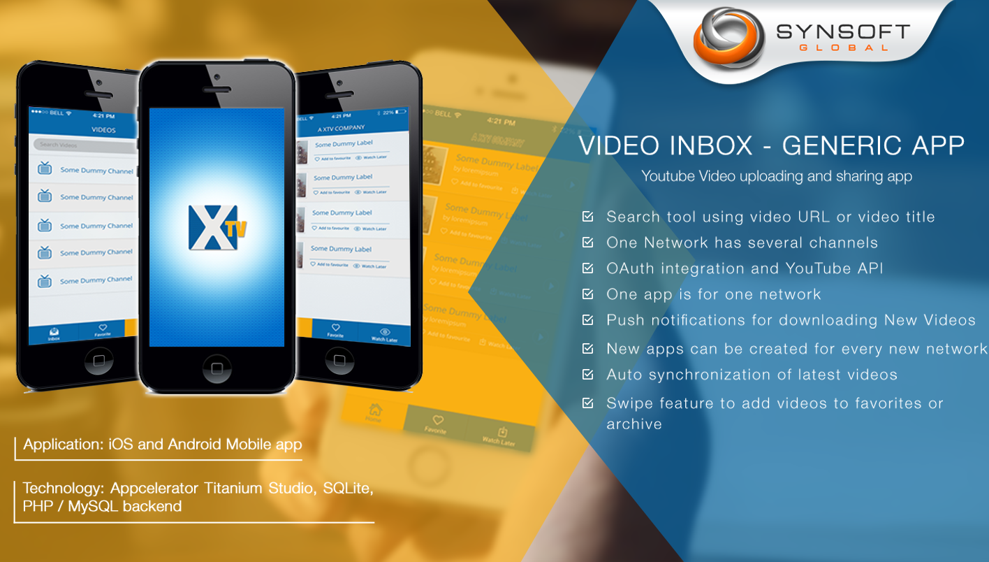 Youtube Video Upload and Sharing App (Titanium) - Synsoft Global