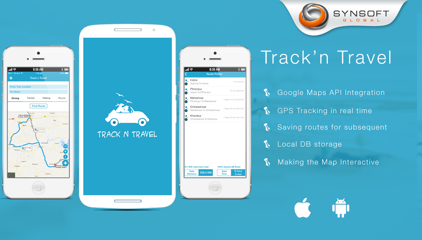 a travel app track and save your route synsoft global