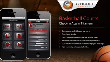 Basketball Courts Check-in App (Titanium)