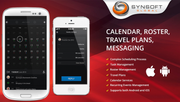 Calendar, Roster, Travel Plans, Messaging (Android/iOS)