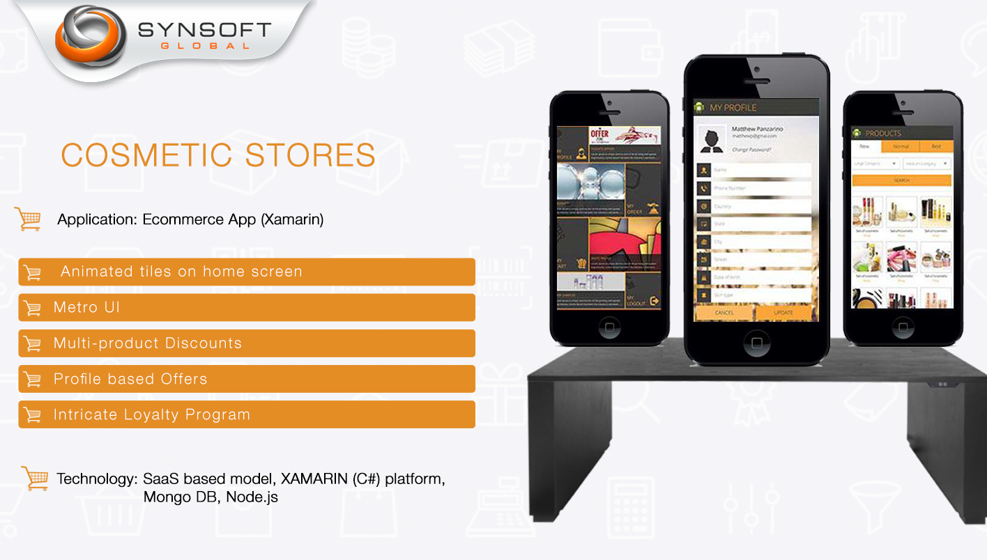 Cosmetic Stores - Ecommerce App (Xamarin) - Synsoft Global