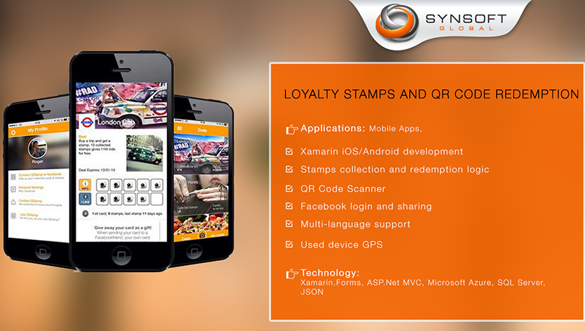 Loyalty Stamps and QR Code Redemption (Xamarin) - Synsoft Global