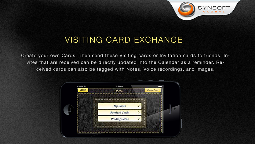 Digital Card Design mobile App Development